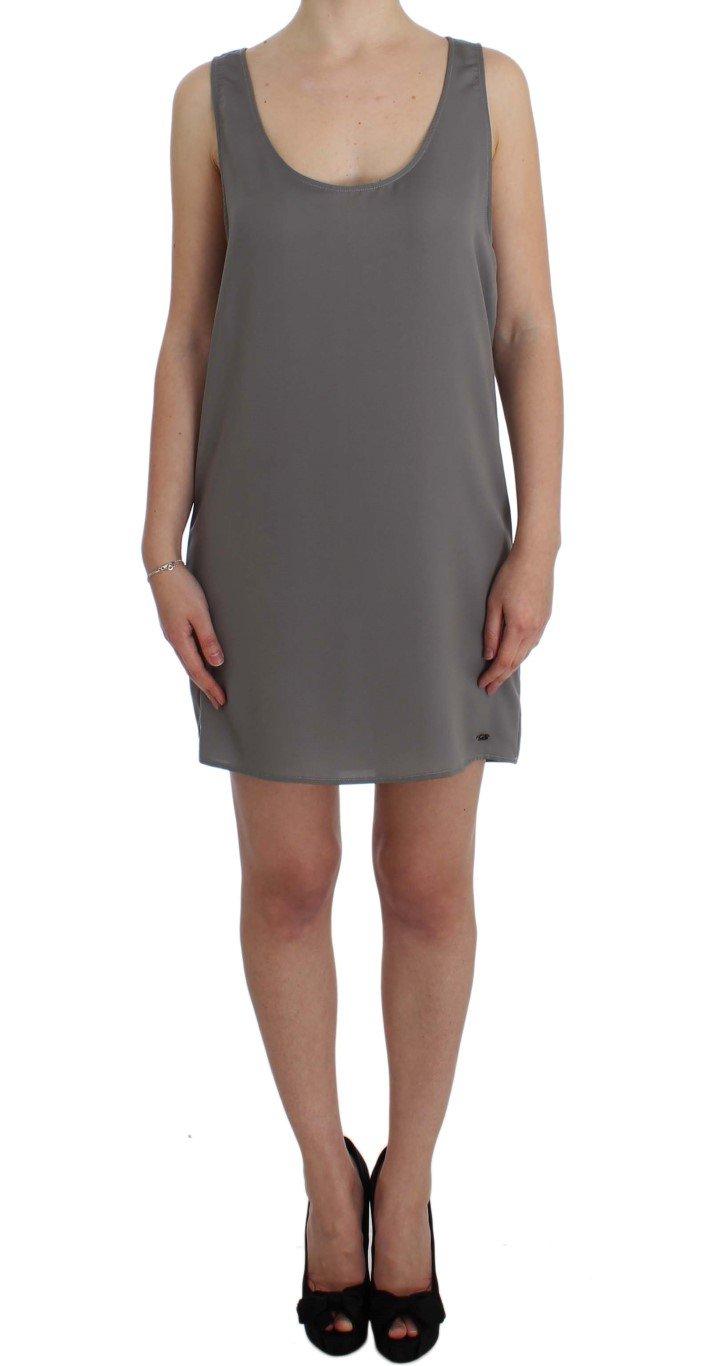 Costume National Women's Stretch Shift Lingerie Dress Gray SIG31058 - IT42|M