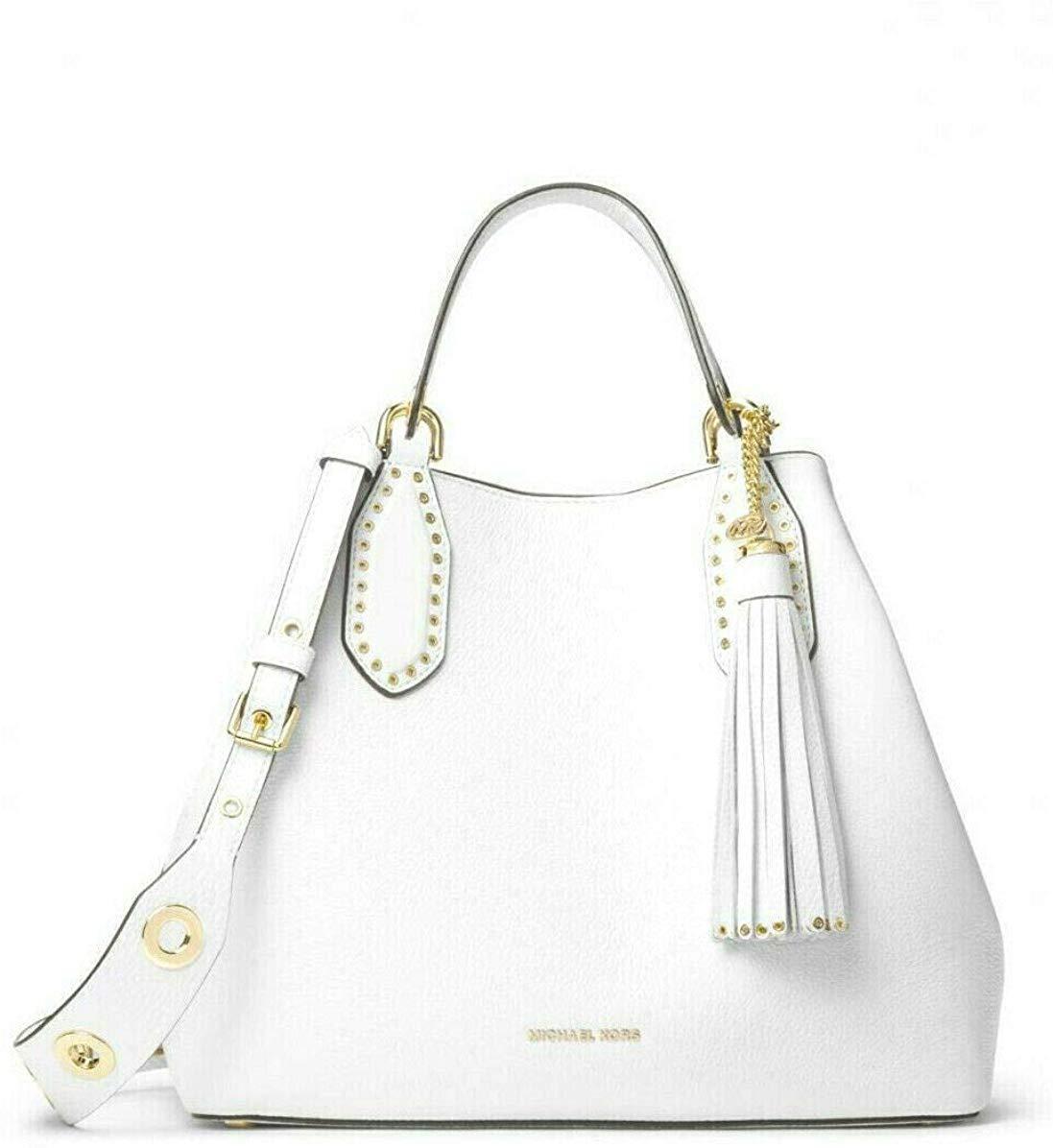 Michael Kors Women's Brooklyn Handbag White MK27423