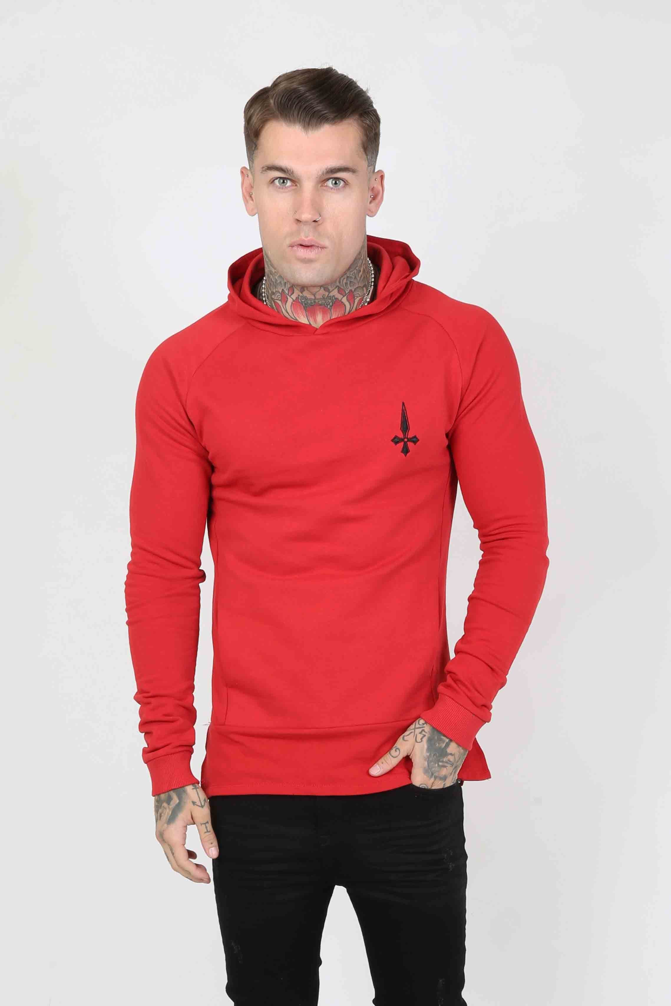 Sniper Men's Hoodie - Red, Small