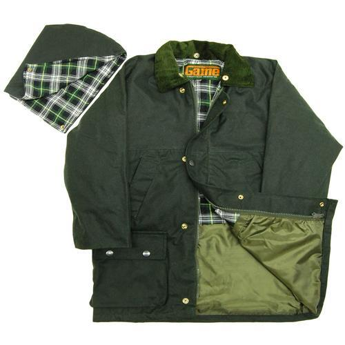 """Game Technical Apparel Kid's Quilted Jacket Wax - Olive 7 to 8 Years (26"""")"""