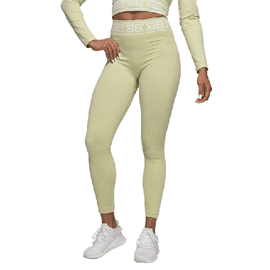 Rib Seamless Legging, Mellow Green Melange