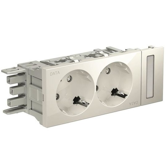 Schneider Electric INS62002 Pistorasia 2-osainen, data valkoinen