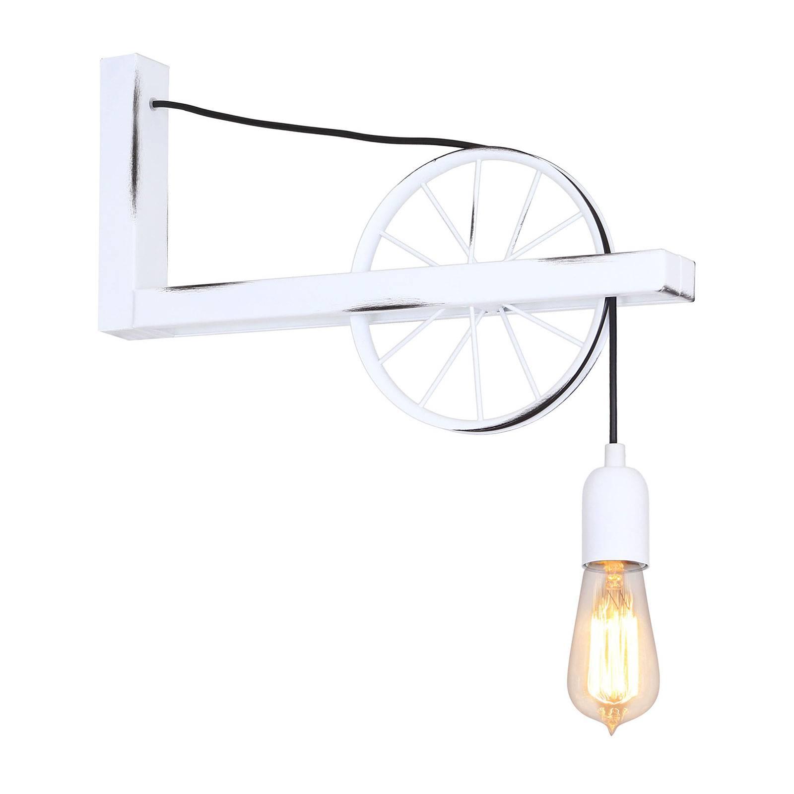 Seinävalaisin 844, pyörä, 1-lamppuinen, valkoinen