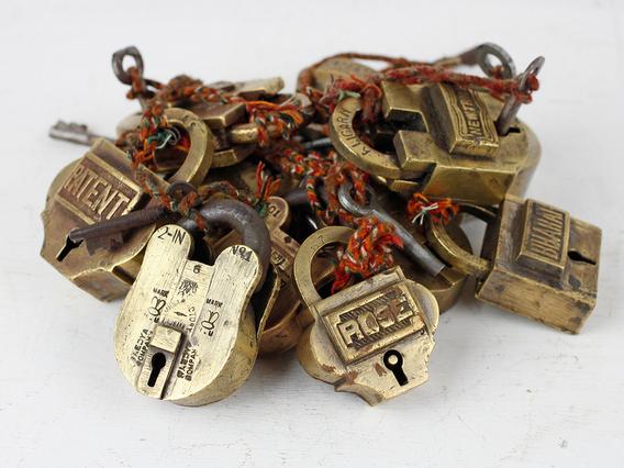 Small Old Brass Padlock Small