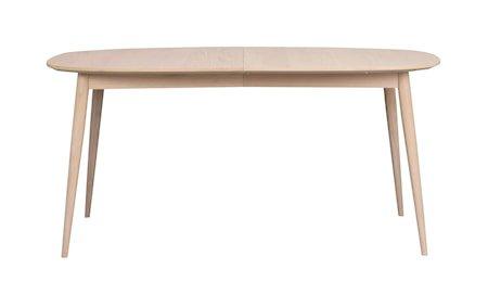 Dawsone Spisebord Ovalt hvitpigmentert eik 160x105 cm