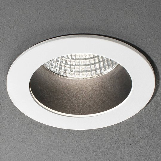 LED-uppospotti Look Round big, valkoinen