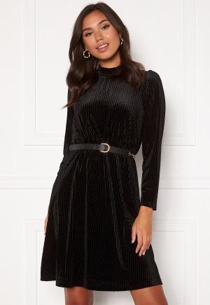Happy Holly Milly velvet dress Black 44/46