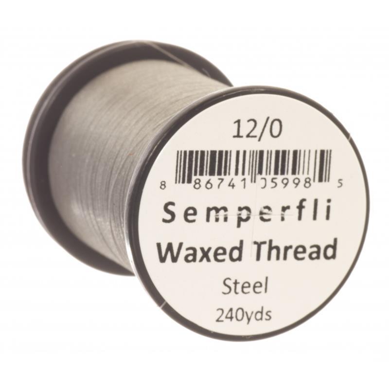 Semperfli Classic Waxed Thread Steel 12/0