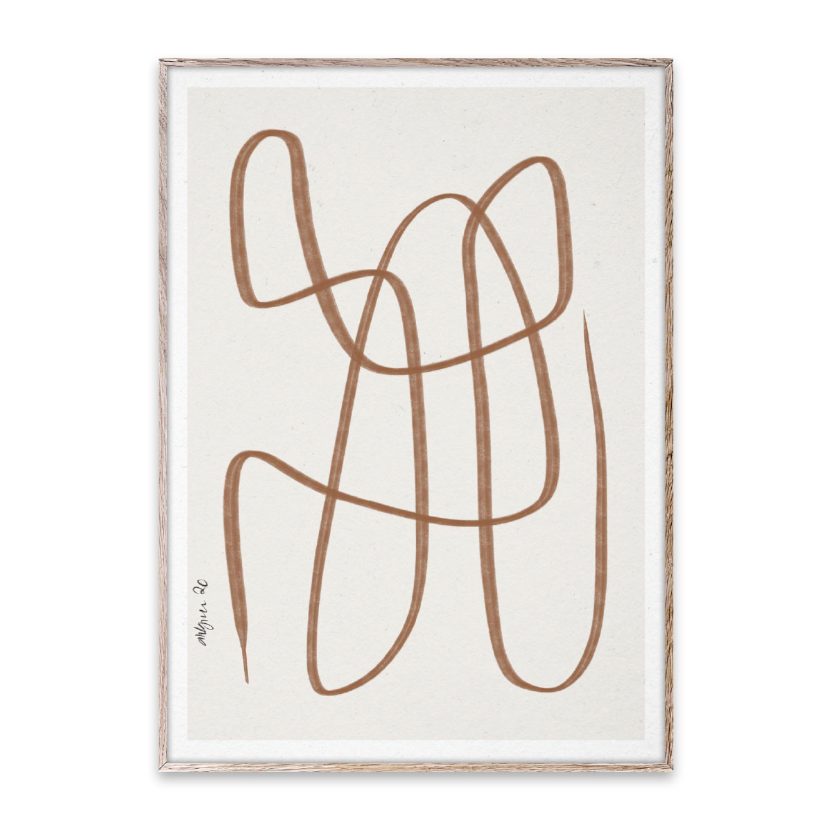 Paper Collective Poster Different Ways - Brown 30x40 cm