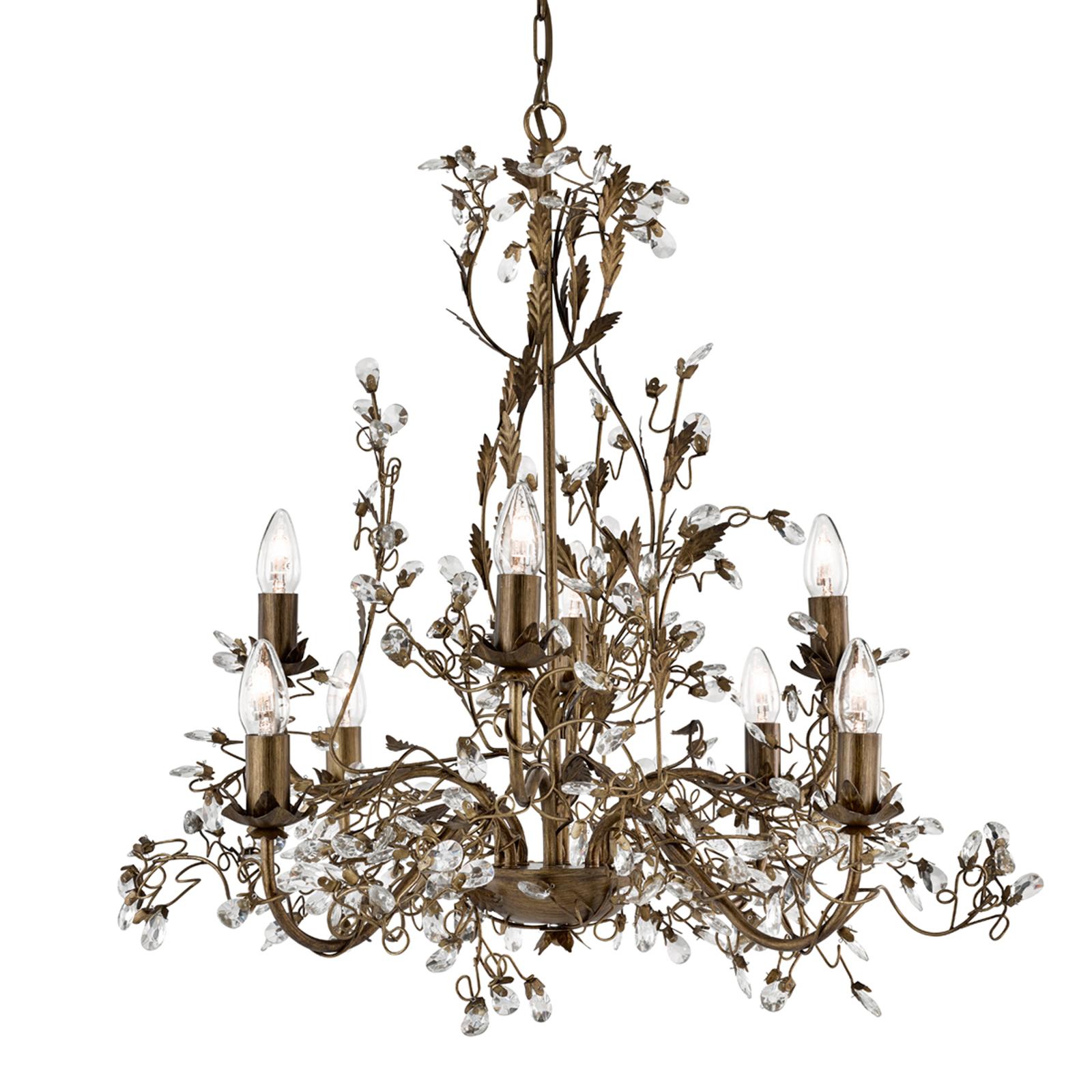 8-lamp. firenzeläistyylinen kattokruunu Almandite
