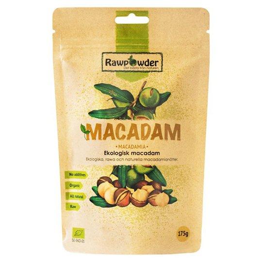 Rawpowder Ekologiska Macadamianötter, 175 g