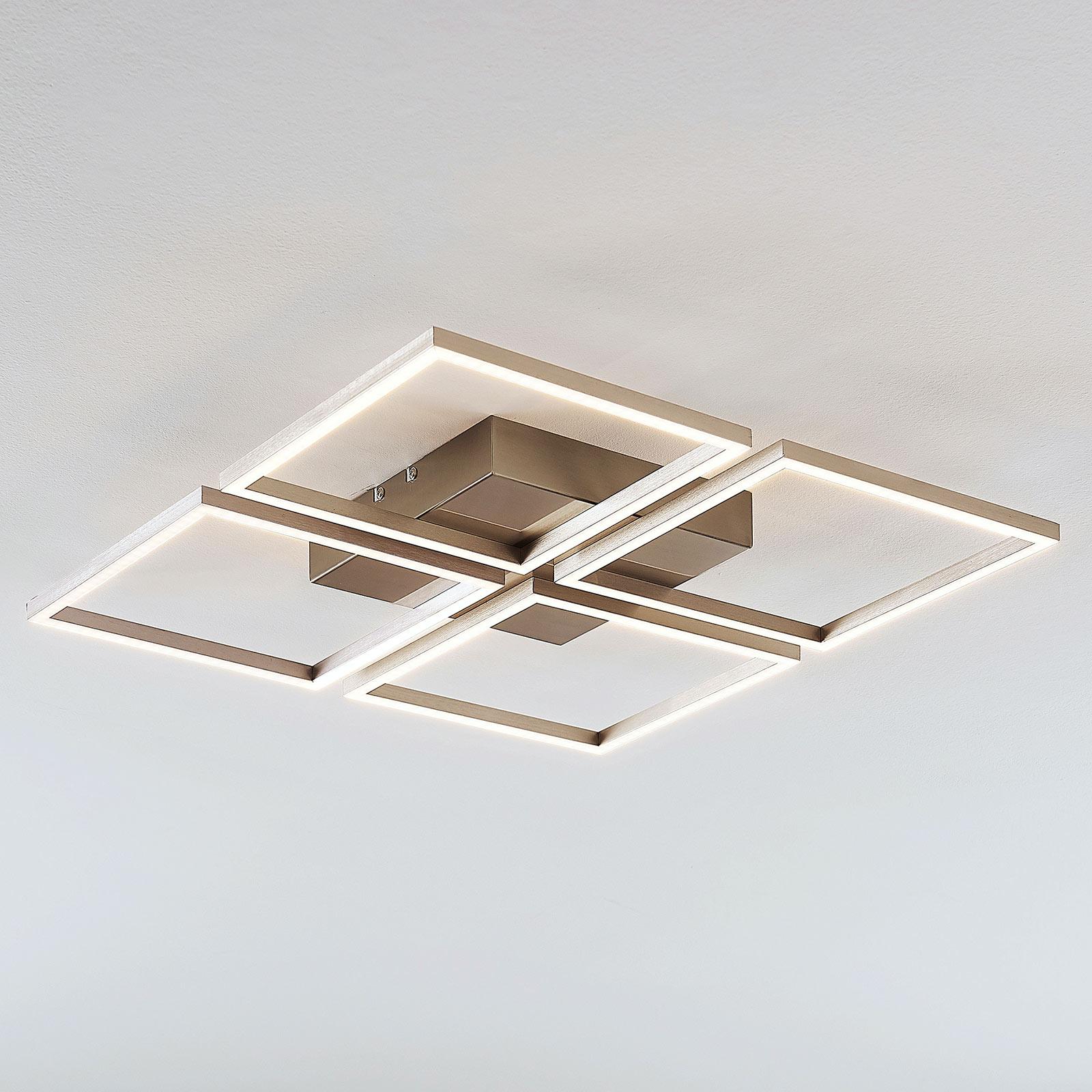 4-lamppuinen LED-kattovalaisin Quadra, himmennet.