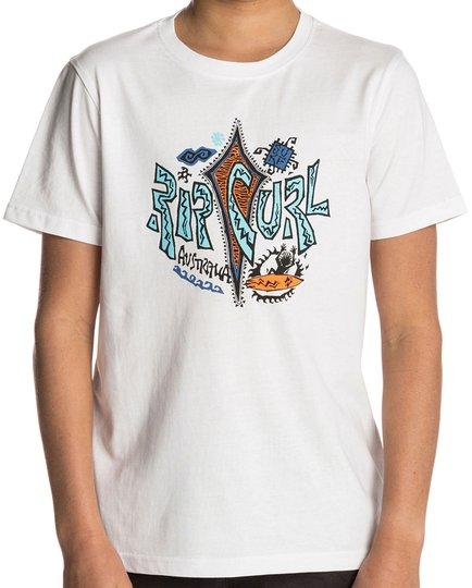 Rip Curl Multi Art SS Tee T-shirt, Optical White 130