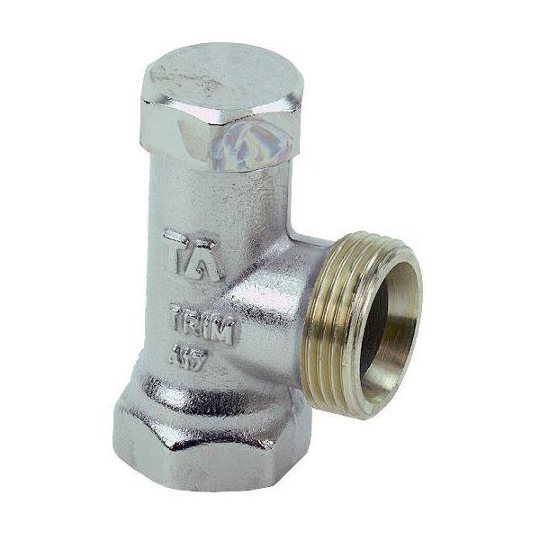 """TA 50003615 Returventil vinklet, forkrommet G15 (1/2"""")"""