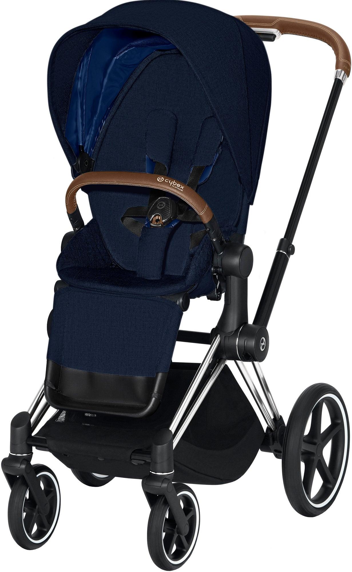 Cybex Priam Plus Sittvagn, Midnight Blue/Chrome Brown