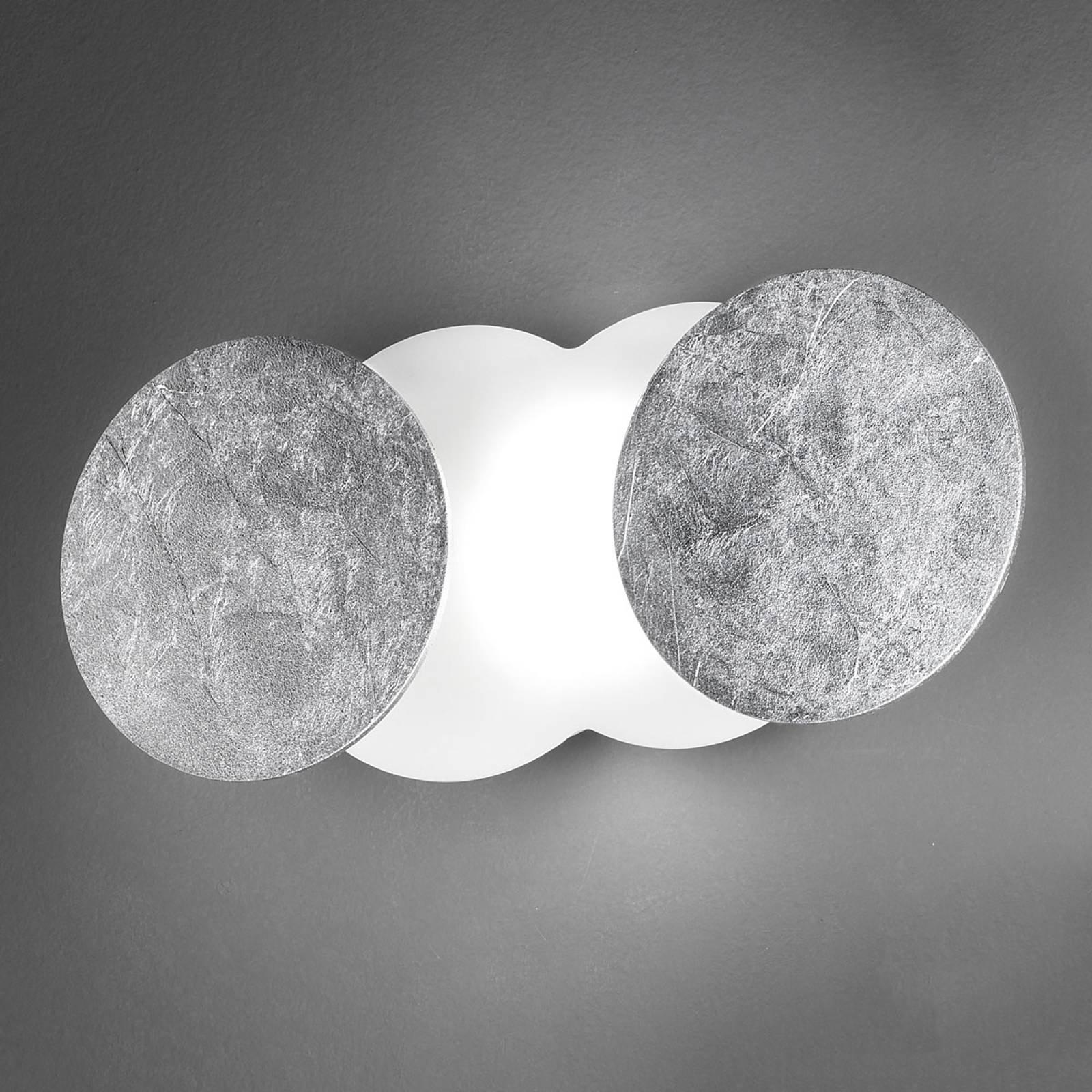 Foranderlig LED-vegglampe Nuvola, sølv