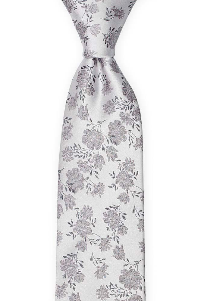Silke Slips, Grå blomster på sølvbunn, Sølv, Blomstermotiv