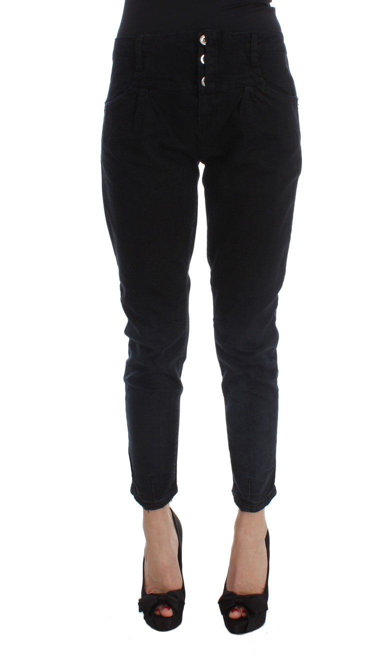 Costume National Women's Cotton Slim Fit Cropped Jeans Black SIG30119 - W28