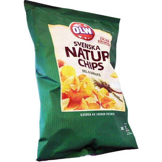 Naturchips dill & gräddfil - 50% rabatt
