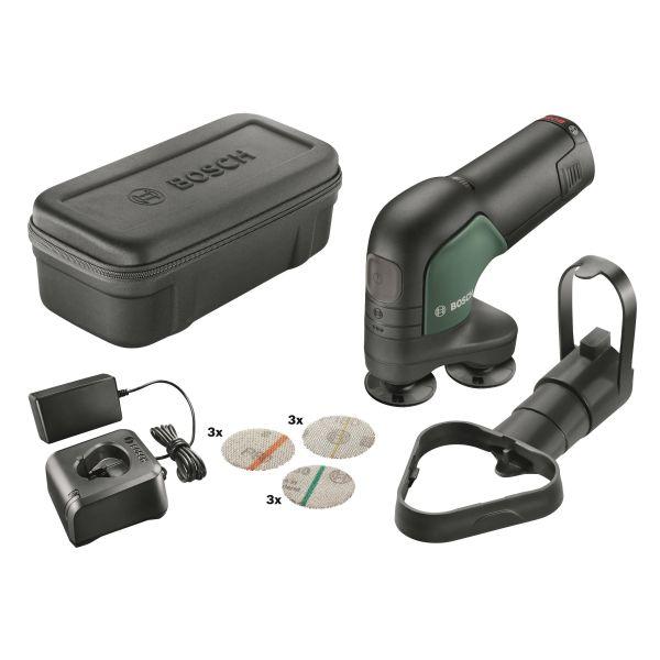 Bosch DIY Easy Curv Sander 12 Slipe- og polermaskin med 2,5 Ah-batteri og lader