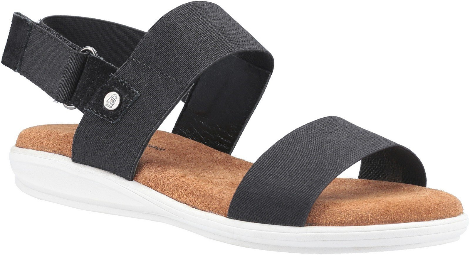 Hush Puppies Women's Ashley Touch Fastening Strap Sandal Various Colours 30218 - Black 3
