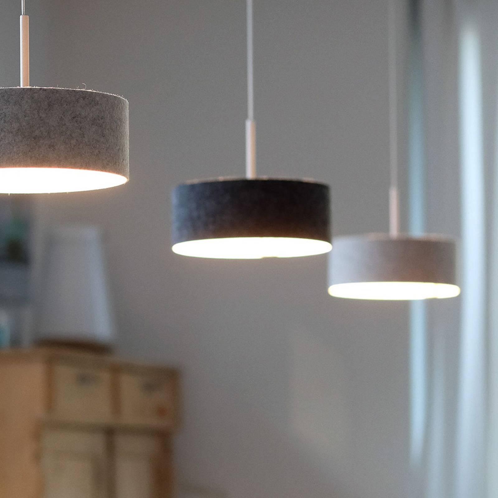 LED-riippuvalaisin LARAfelt S, Ø 20 cm, grafiitti
