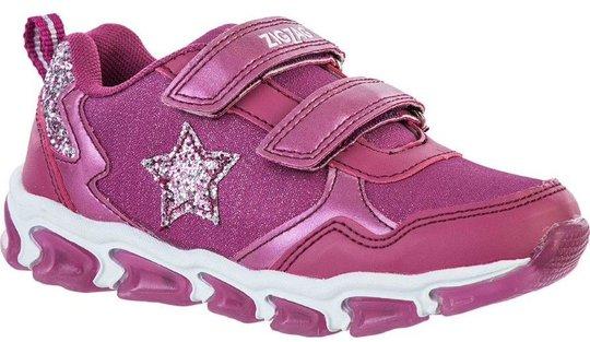 ZigZag Biholy Blinkende Sneaker, Damson, 25
