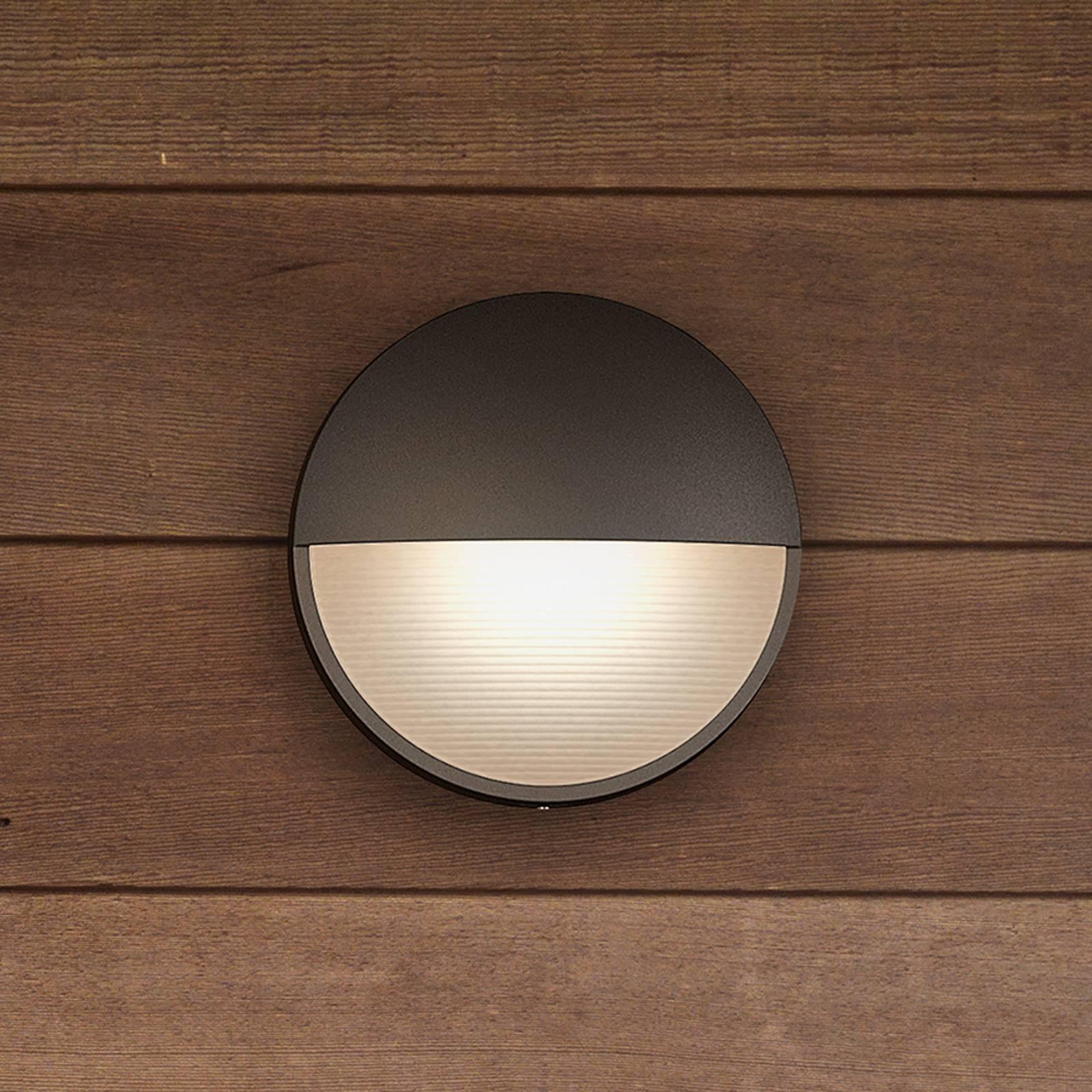 Capricorn – antrasiitti LED-seinävalaisin, IP44