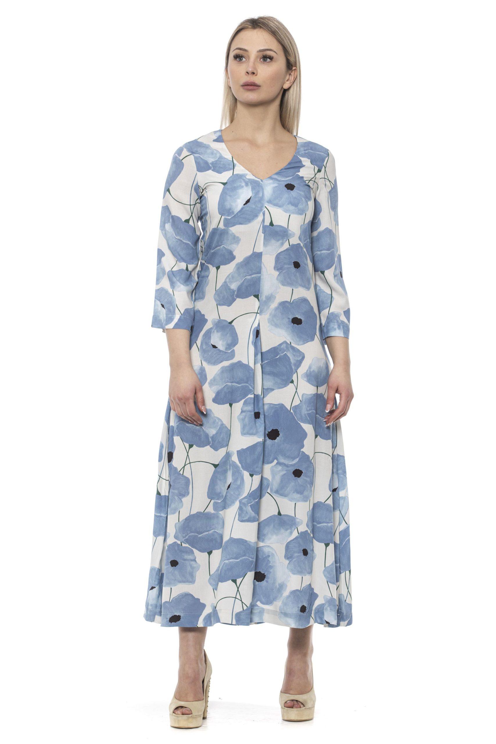 Alpha Studio Women's Chambray Dress Blue AL1374914 - IT42 | S