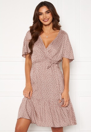 Happy Holly Olivia dress Dusty pink / Offwhite 32/34