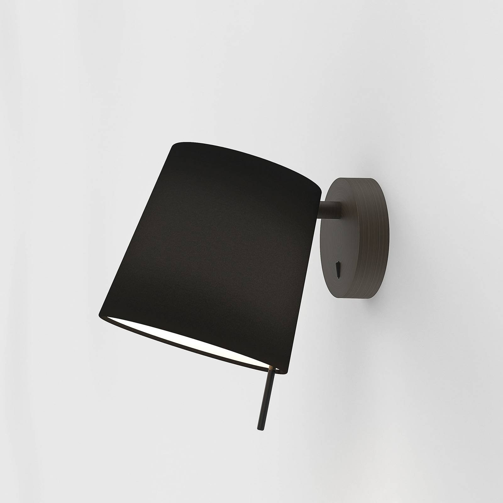 Vegglampe Mitsu Wall Bronze, svart skjerm