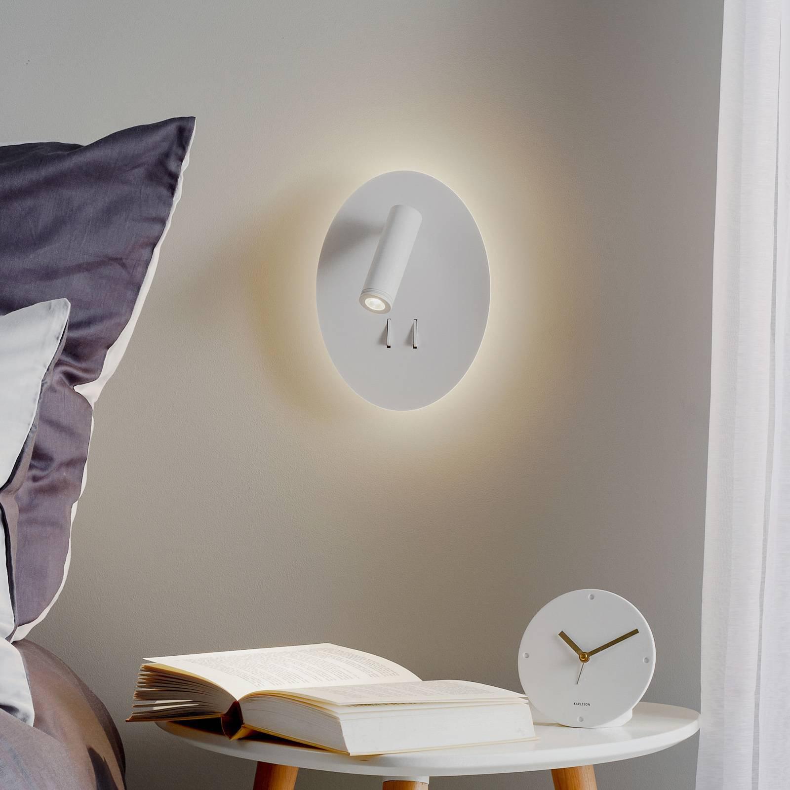Helestra Orso LED-vegglampe med leselampe, oval