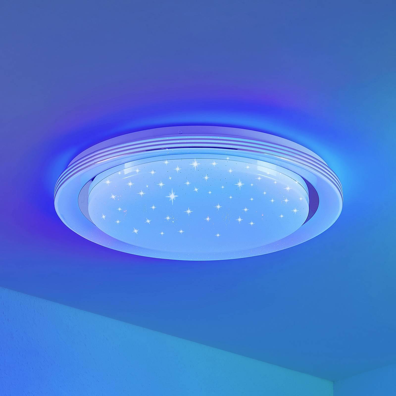 Lindby Mizuni -LED-kattovalaisin, RGBW, CCT, 48 cm