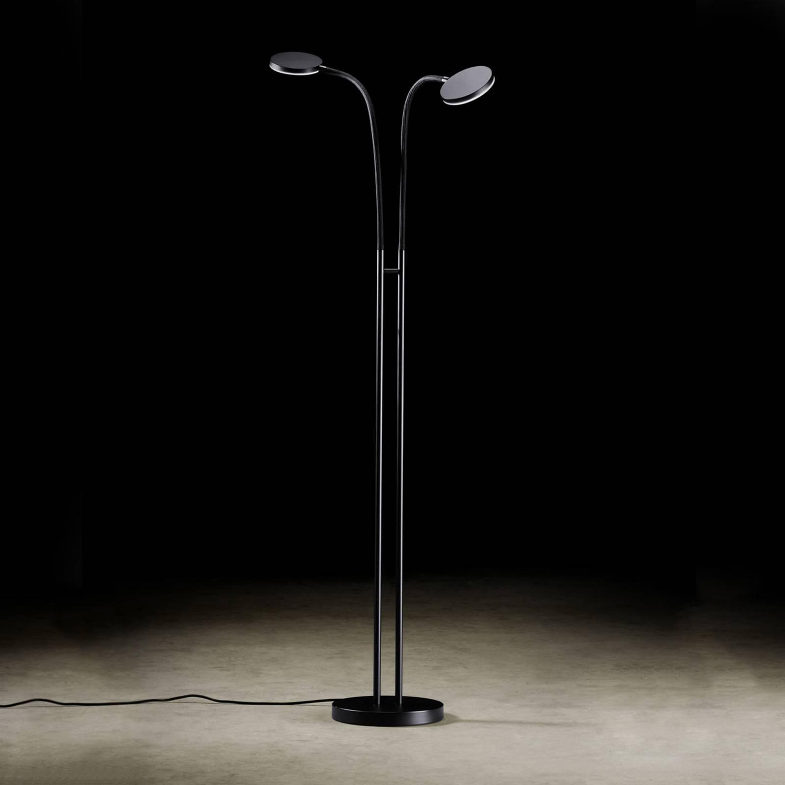 Holtkötter Flex Twin -LED-lattiavalo musta/musta