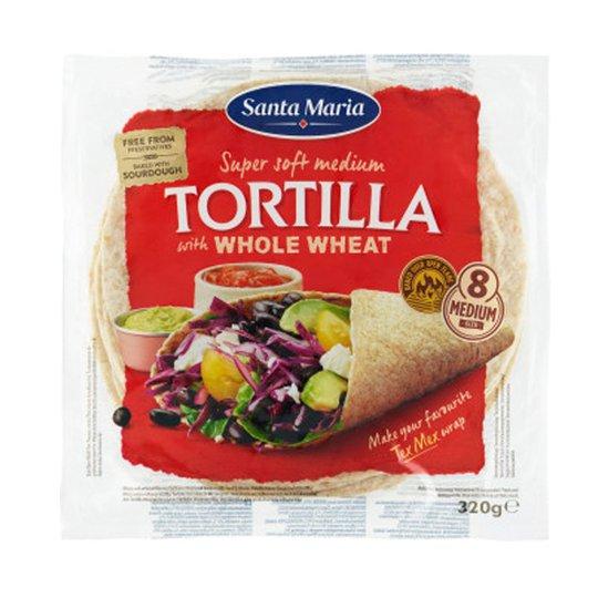 "Tortillas ""Whole Wheat"" 320g - 50% rabatt"