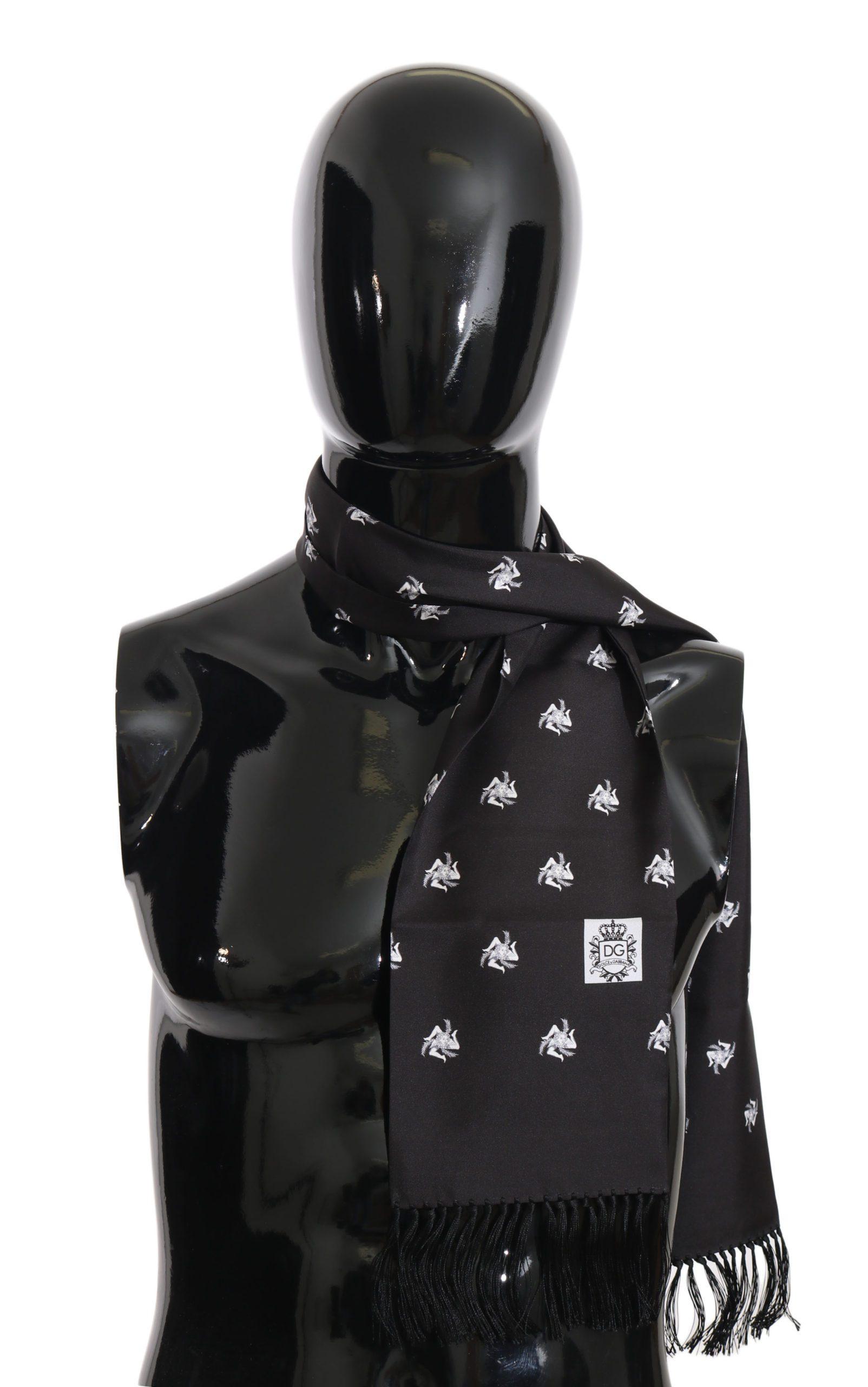 Dolce & Gabbana Men's Scarf Black MS1975