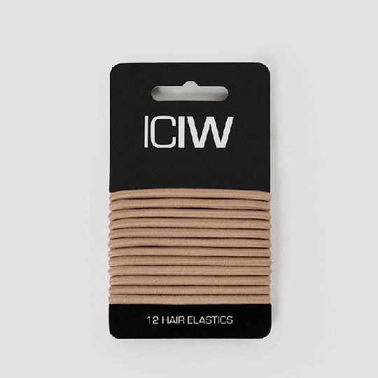 ICIW 12-Pack Sport Hair Ties, Sand