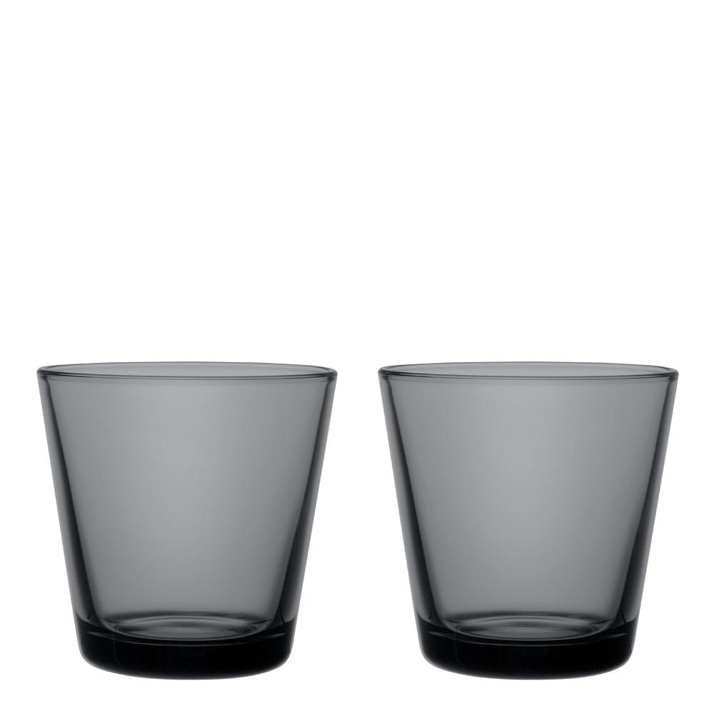 Iittala - Kartio Glas 21 cl 2-pack Mörkgrå
