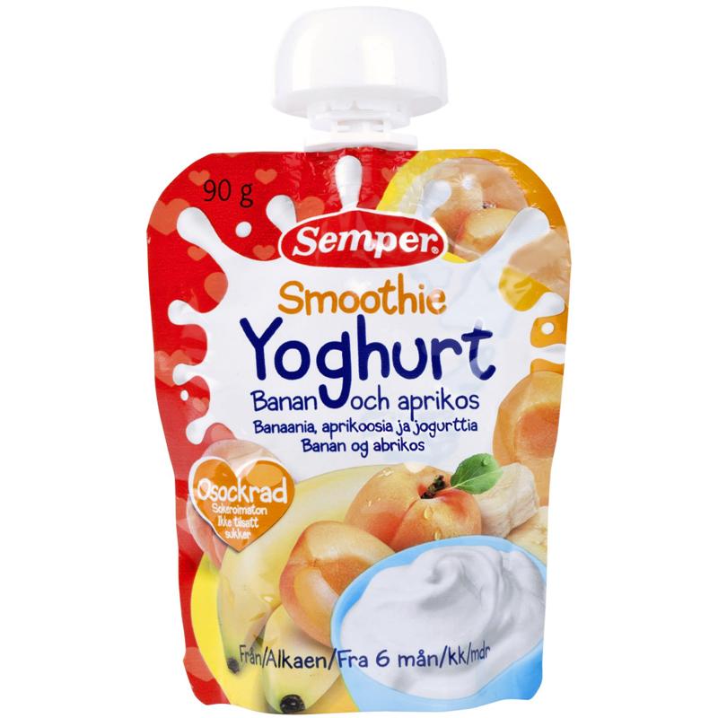 Barnmat Smoothie Yoghurt, Banan & Aprikos - 5% rabatt