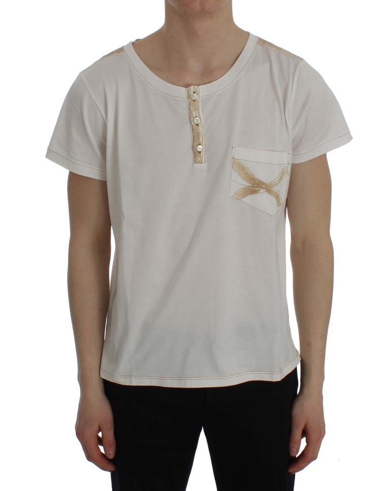 Ermanno Scervino Men's T-Shirt White SIG30671 - IT48 | M