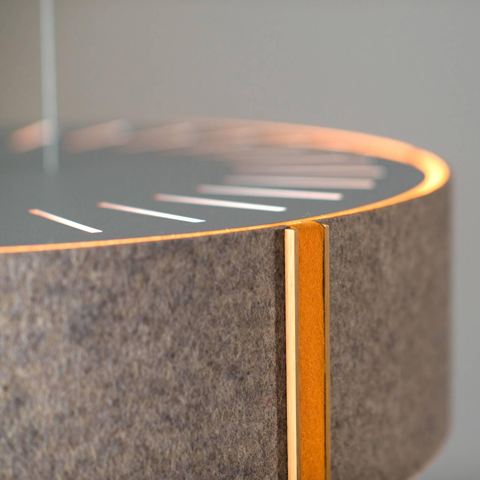 LED-riippuvalaisin LARAfelt M Ø43cm harmaa/oranssi