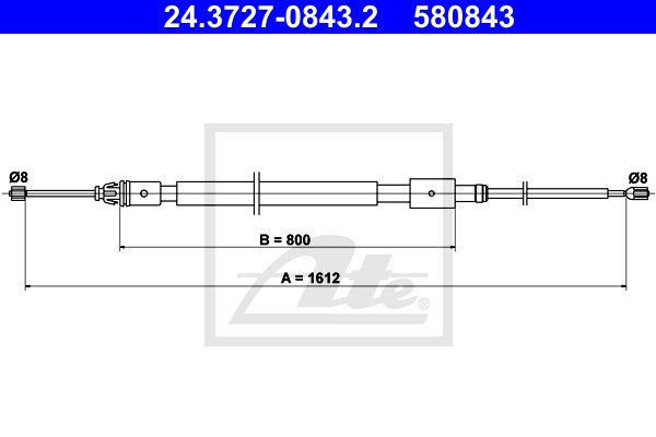 Käsijarruvaijeri ATE 24.3727-0843.2