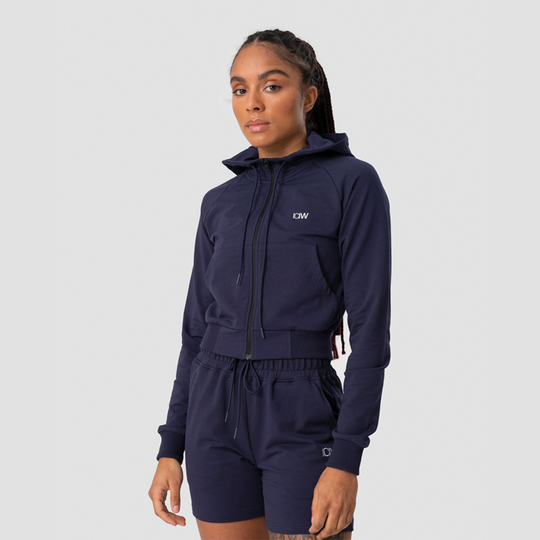 Activity Cropped Hoodie, Navy