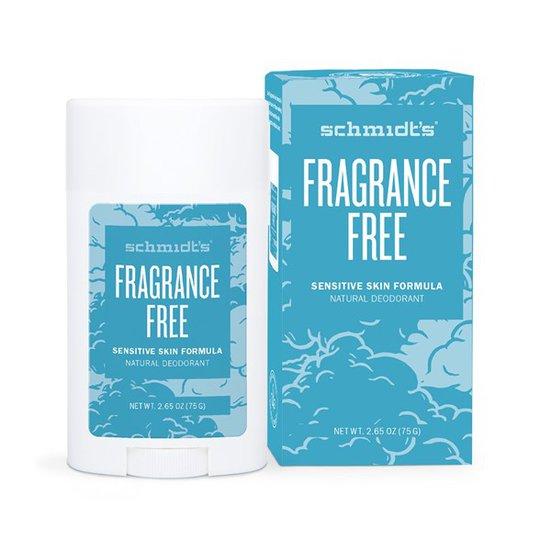 Schmidts Naturals Sensitive Skin Deodorant Stick Fragrance Free, 75 g