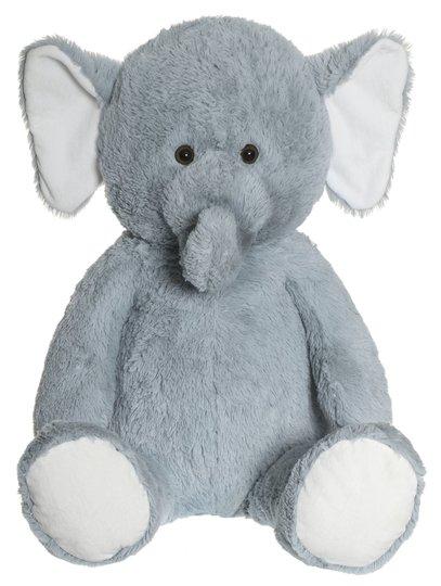 Teddykompaniet Kosedyr Elefant 100 cm, Grå