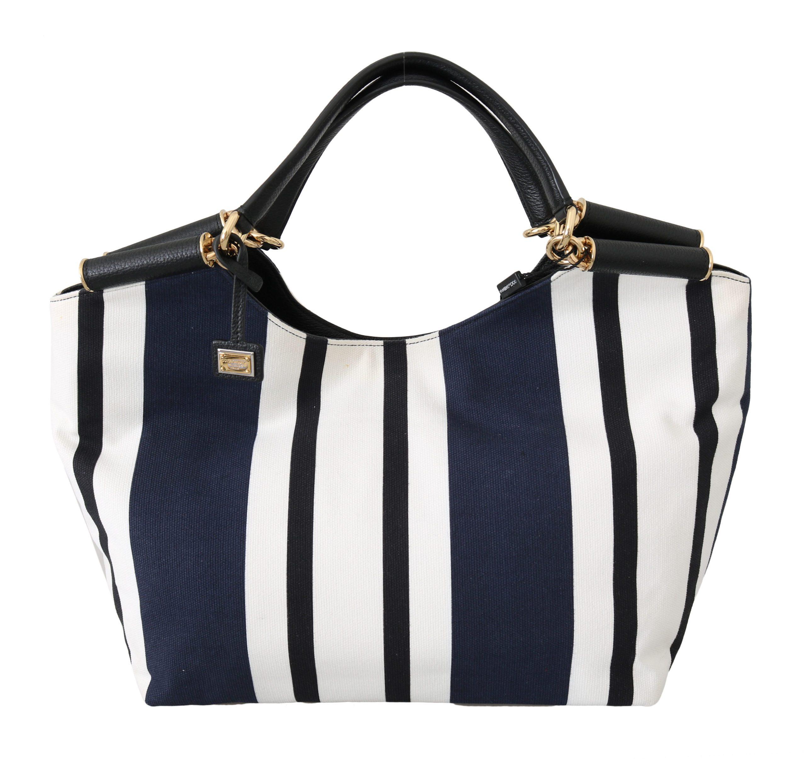 Dolce & Gabbana Women's Stripes Cotton Tote Bag Multicolor VAS8707