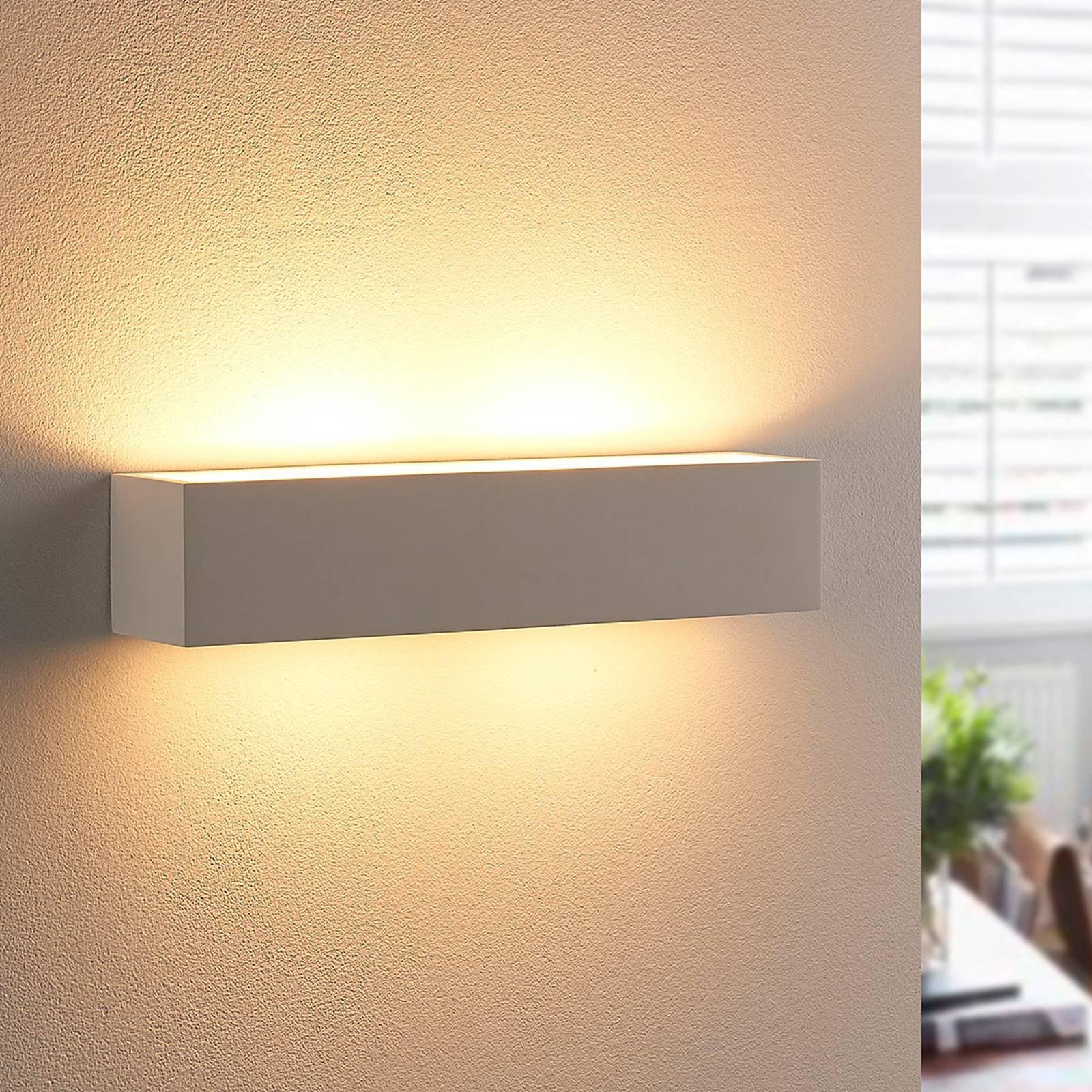 Vegglampe i gips Tjada med G9-LED-pærer