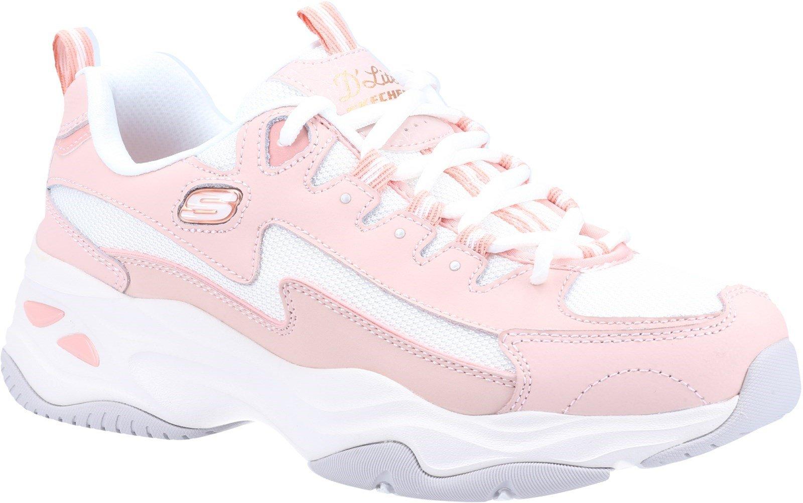Skechers Women's D'Lites 4.0 Sport Trainer Various Colours 32106 - Light Pink 3