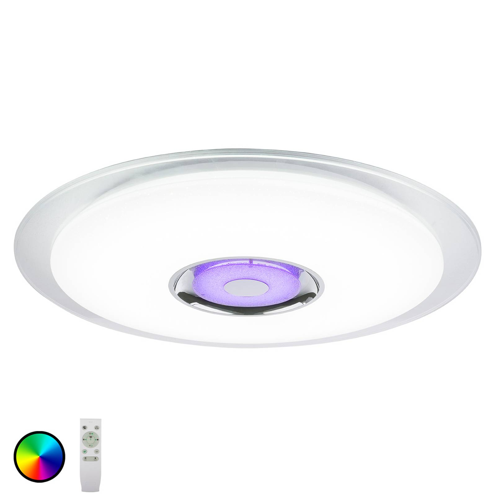 LED-kattovalaisin Tune RGB kaiuttimella Ø 60