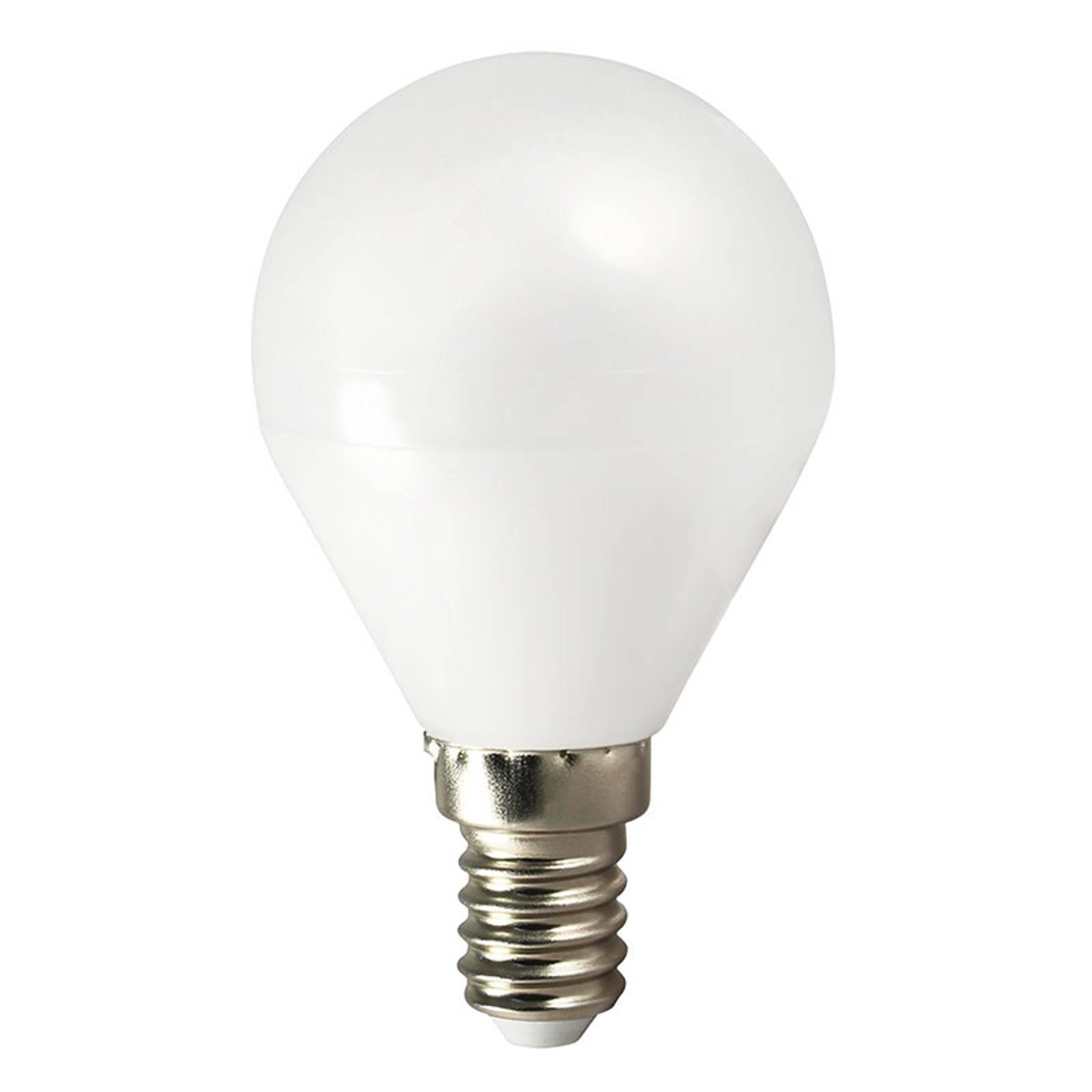 LED-lamppu TEMA E14 5W Pisarat lämmin valk. AC/DC